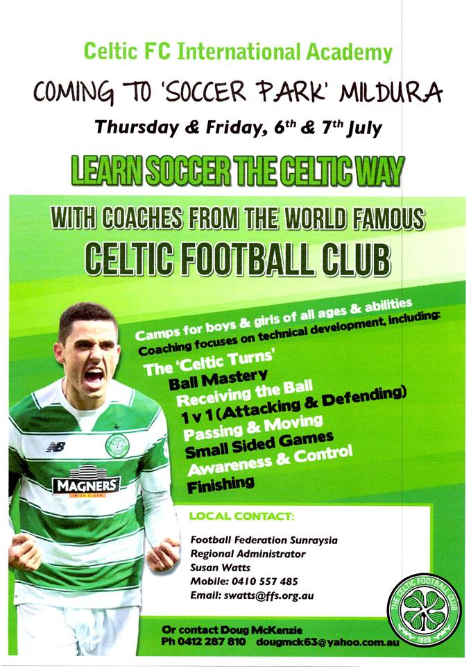Coaching clinic - Celtic FC International Academy coming to ...